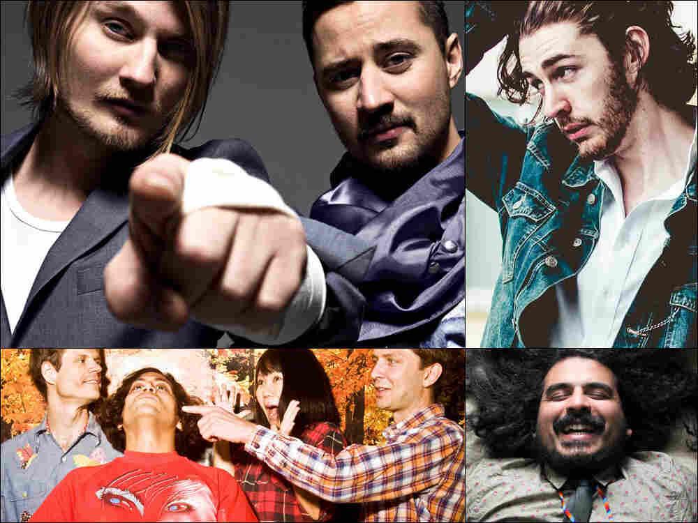 Clockwise from upper left: Röyksopp, Hozier, Helado Negro, Deerhoof