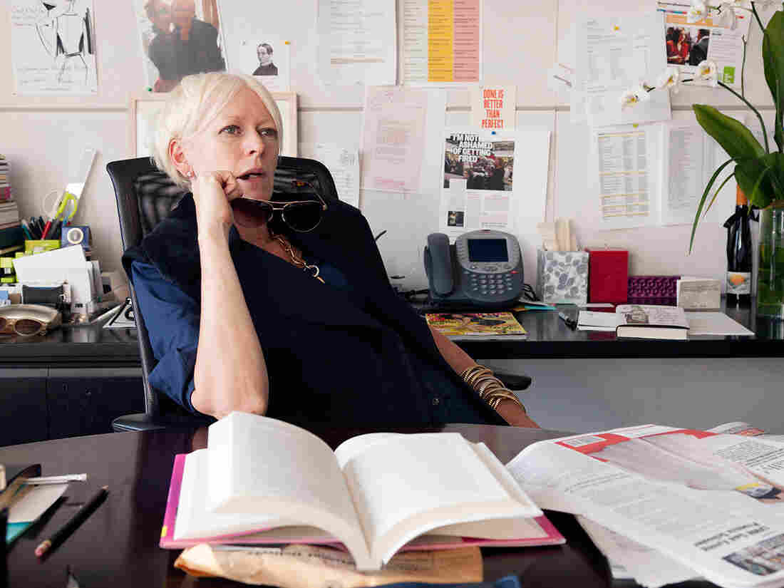 Joanna Coles, editor-in-chief of Cosmopolitan, at her desk in August.