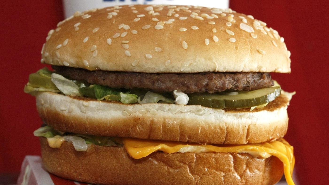 Enkelt burger mcdonald