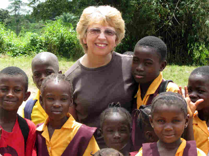 Nancy Writebol, poses with children in Liberia. Nancy Writebol is one of two Americans working for a missionary group in Liberia who were infected with the Ebola virus, and who have been receiving treatment at Emory University Hospital, in Atlanta.