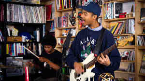The Bots' members perform a Tiny Desk Concert on Sept. 25, 2014.