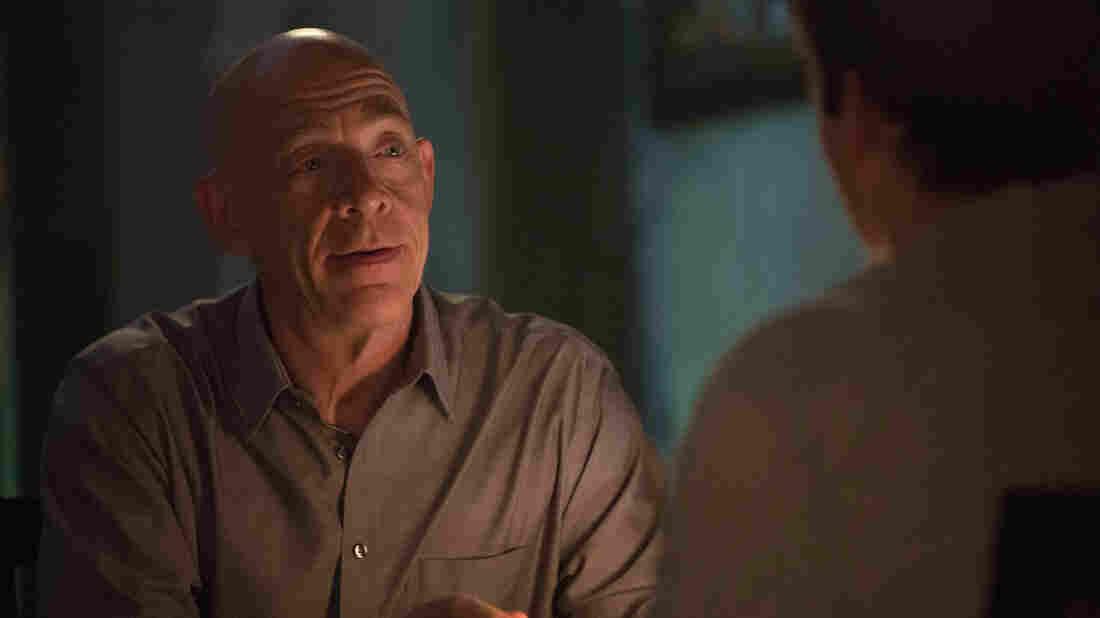 J.K. Simmons plays brutal music teacher Terence Fletcher in Whiplash.