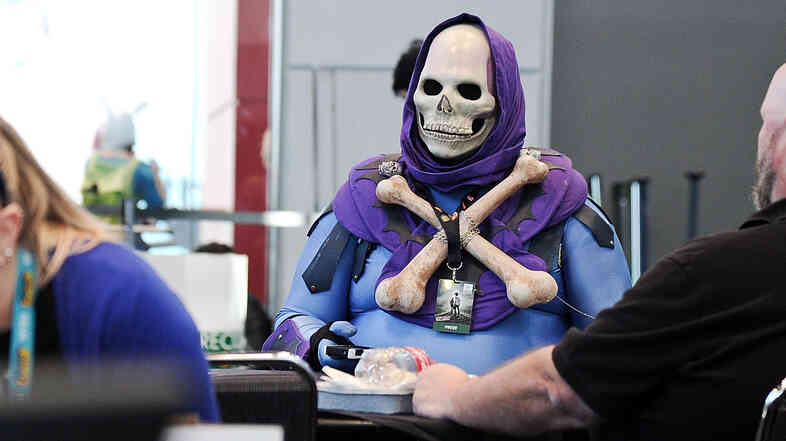 Costumes were plentiful at the New York Comic-Con at Jacob Javitz Center.