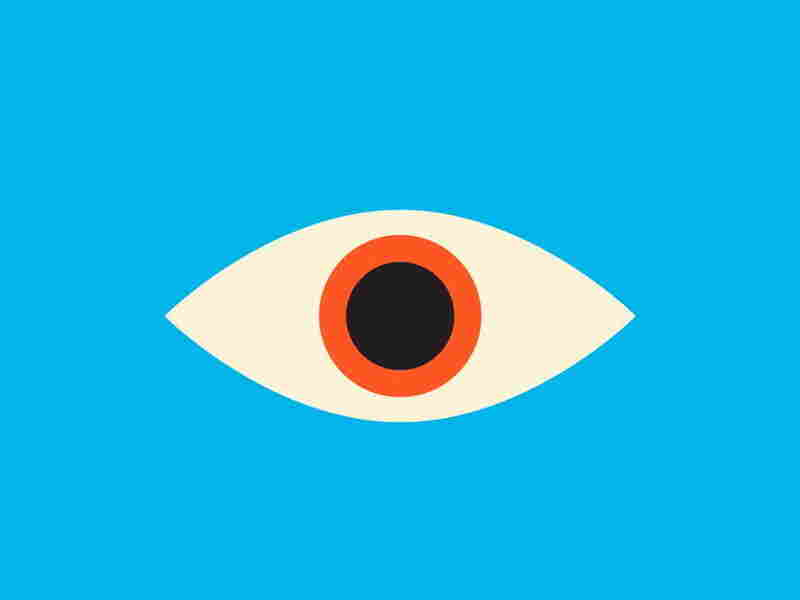 Another eye appears on Mendelsund's cover of Kafka's The Castle.