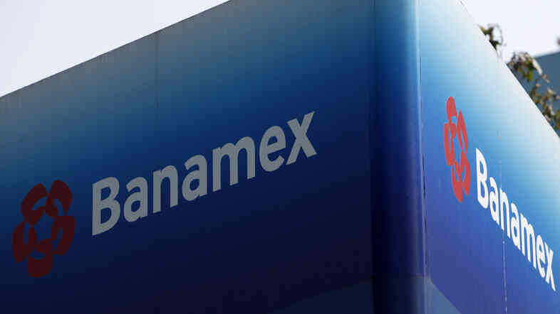 A Banamex bank sign in Mexico City.