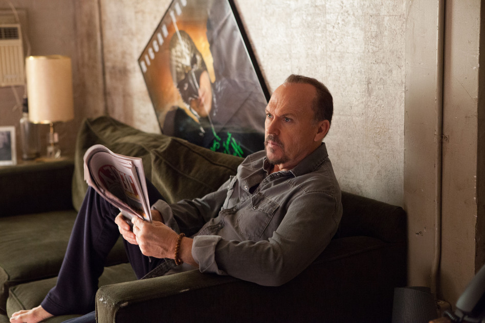 Michael Keaton stars in <em>Birdman or (The Unexpected Virtue of Ignorance).</em> It's a dark comedy about an actor who once played a superhero and later stages a vanity production on Broadway. (Alison Rosa/Twentieth Century Fox)