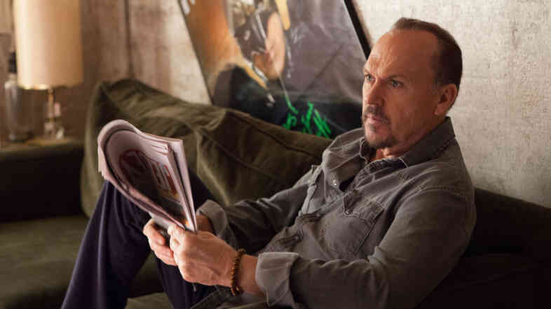 Michael Keaton stars in Birdman or (The Unexpected Virtue of Ignorance). It's a dark comedy about an actor who once played a superhero and later stages a vanity production on Broadway.