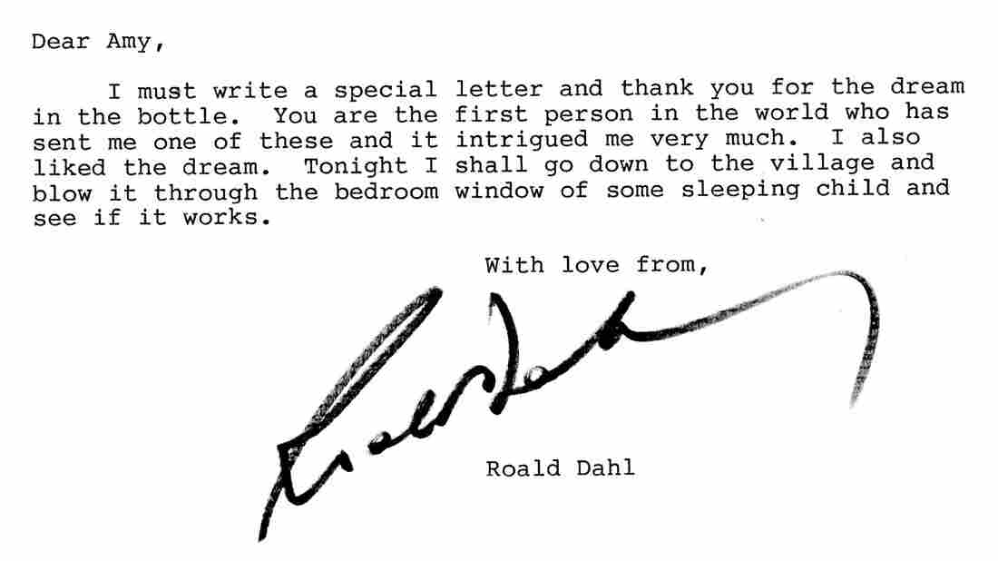 Author of James and the Giant Peach and Matilda, Roald Dahl showed his sense of humor and whimsy in his letter to a young Amy Corcoran.