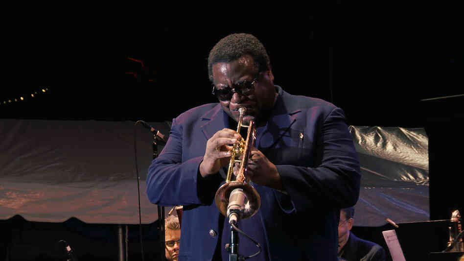 "Wallace Roney leads a performance of Wayne Shorter's ""Universe"" at the Detroit Jazz Festival."