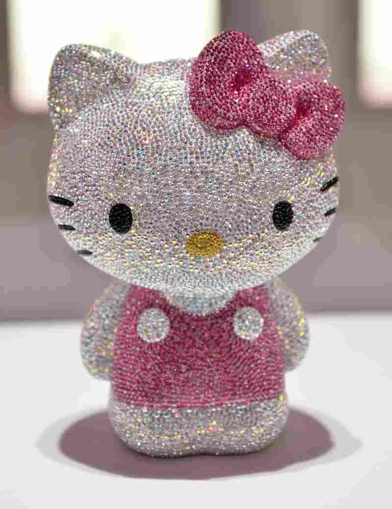 A Hello Kitty Jewel doll studded with 19,636 crystals is displayed at Swarovski's Hello Kitty collection in Tokyo in 2011.
