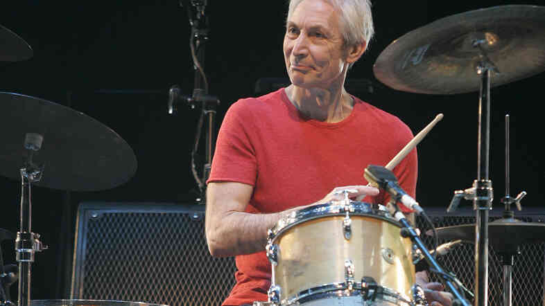 Charlie Watts, still laying down beats for The Rolling Stones, in a 2010 New York concert.