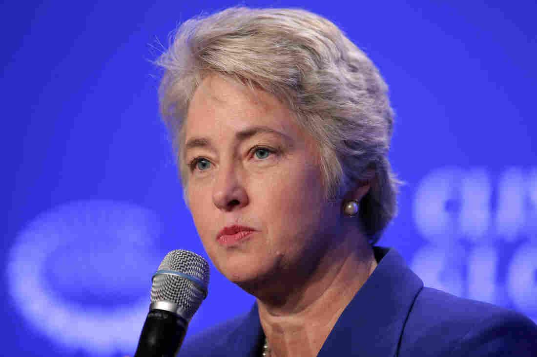 Mayor Annise Parker of Houston speaks at a press conference in September.