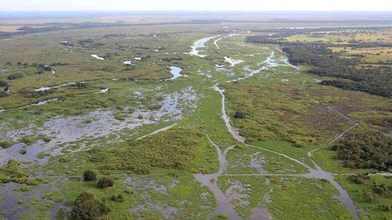 The restoration's goal is to put as much of the Kissimmee as possible back to the way it was. This photo shows the river after restoration.