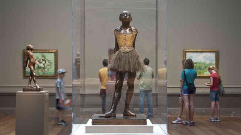 Edgar Degas' Little Dancer Aged Fourteen is on display at the National Gallery of Art until Jan. 11.