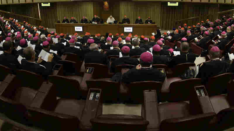 Pope Francis opens the morning session of a two-week synod on family issues at the Vatican, on Saturday.