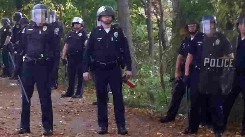 Local police, firefighters and ambulances in New Hampshire responded to riots during the annual Pumpkin Festival near Keene State College on Saturday.