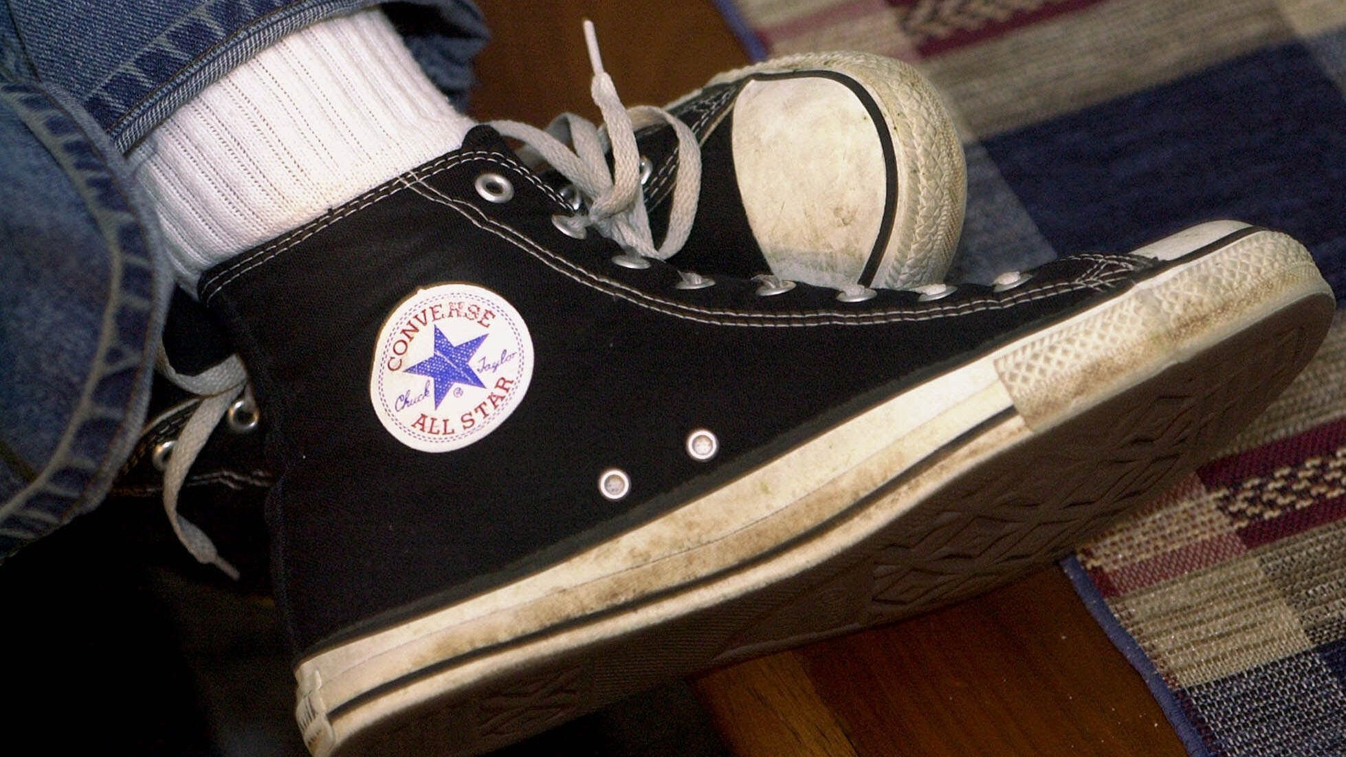 Old converse sneakers | Traveled all the way around the worl