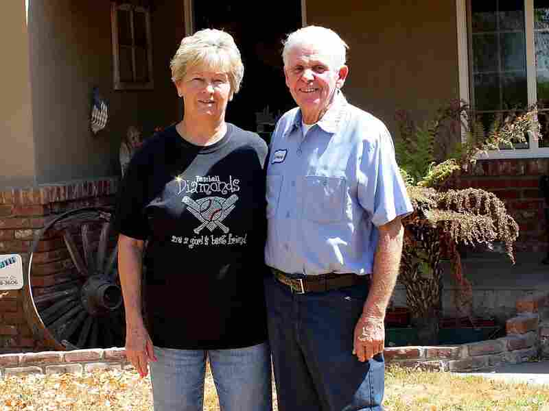 Pam and Lawrence Vieira have lived in their ranch house for nearly 40 years. During the drought, water from their well has slowed to a trickle.
