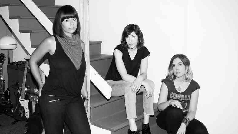 Janet Weiss (left), Carrie Brownstein (center) and Corin Tucker of Sleater-Kinney. The trio's first album since 2005 will be out on Jan. 20.