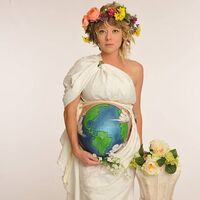 Heather Nicole Artrip — who lives in Stuart, Fla., and listens to NPR member station WQCS — dresses as Mother Earth for Halloween.