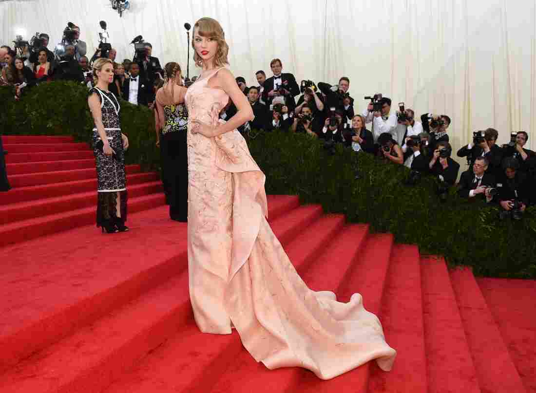 Taylor Swift wears an Oscar de la Renta gown to the Costume Institute Benefit at The Metropolitan Museum of Art on May 5 in New York.