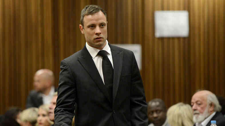 Tuesday in Pretoria, South Africa, Oscar Pistorius was sentenced to five years in prison for the fatal shooting of his girlfriend.