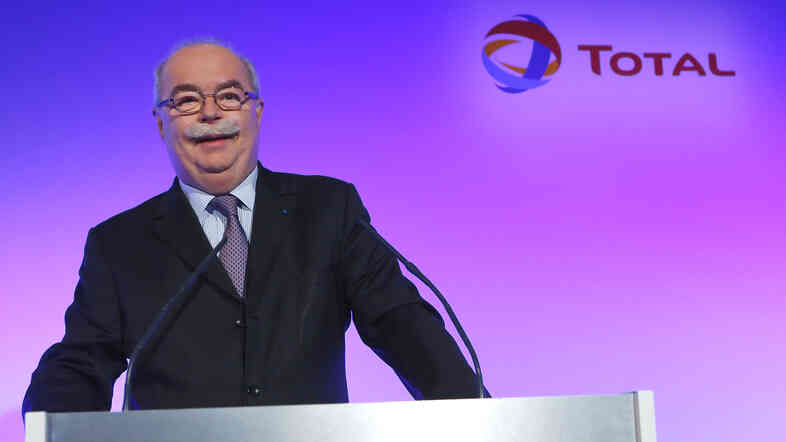 French energy giant Total CEO Christophe de Margerie, posing prior to a press conference held in Paris on Feb. 13, 2013.