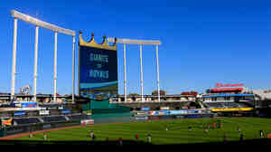 Kauffman Stadium in Kansas City, Mo., a day before Game 1 of the 2014 World Series.
