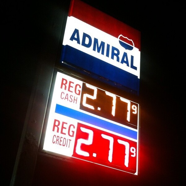 @officialdavet shared this image from Lake Orion, Mich., as part of our callout for photos of gas prices across the country.