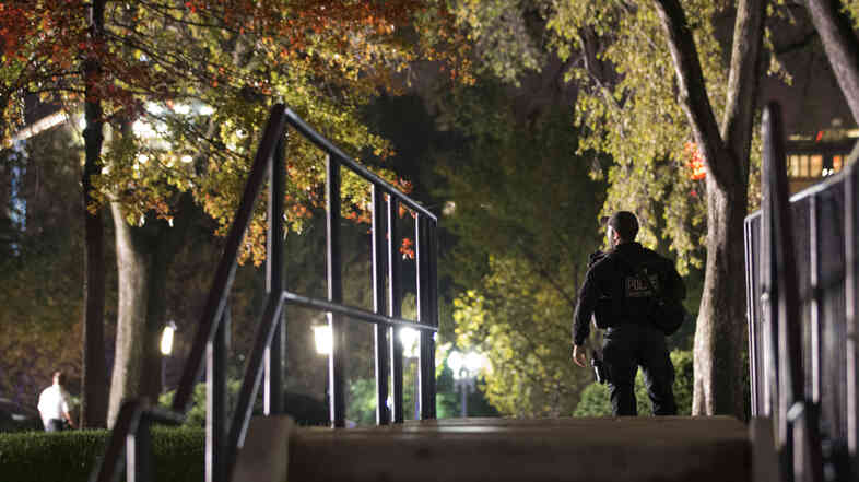 Secret Service respond on the North Lawn of the White House after a man jumped the White House fence Wednesday night. This latest incident comes about a month after a previous fence-jumper sprinted across the lawn, past armed uniformed agents, and entered the Executive Mansion.