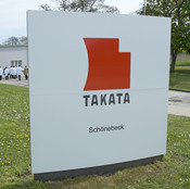 Takata Ignition Systems in Schoenebeck, Germany, which makes air bags. Millions of automobiles have been recalled because of a defect in the air bags' inflators.
