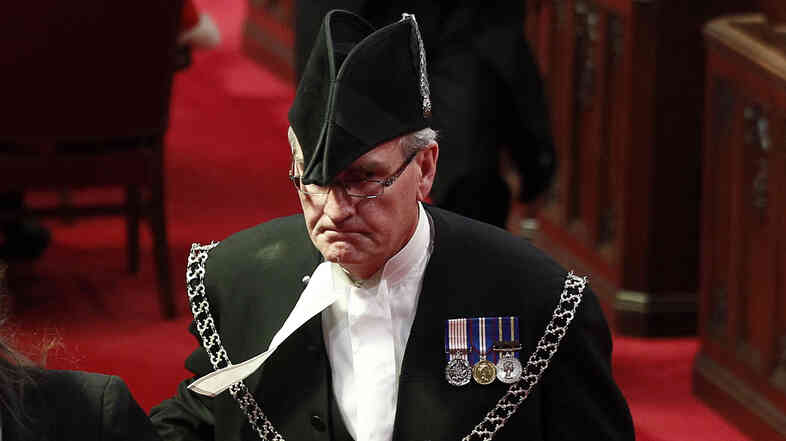 Sergeant-at-Arms Kevin Vickers is pictured in the Senate chamber on Parliament Hill in Ottawa in this file photo from June 3, 2011.