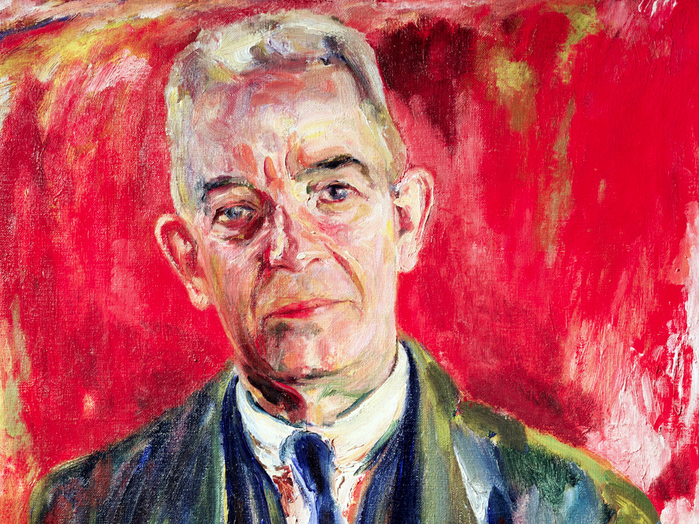 A 1931 portrait of Danish composer Carl Nielsen by Sigurd Swane. Nielsen's symphonies are still undervalued.