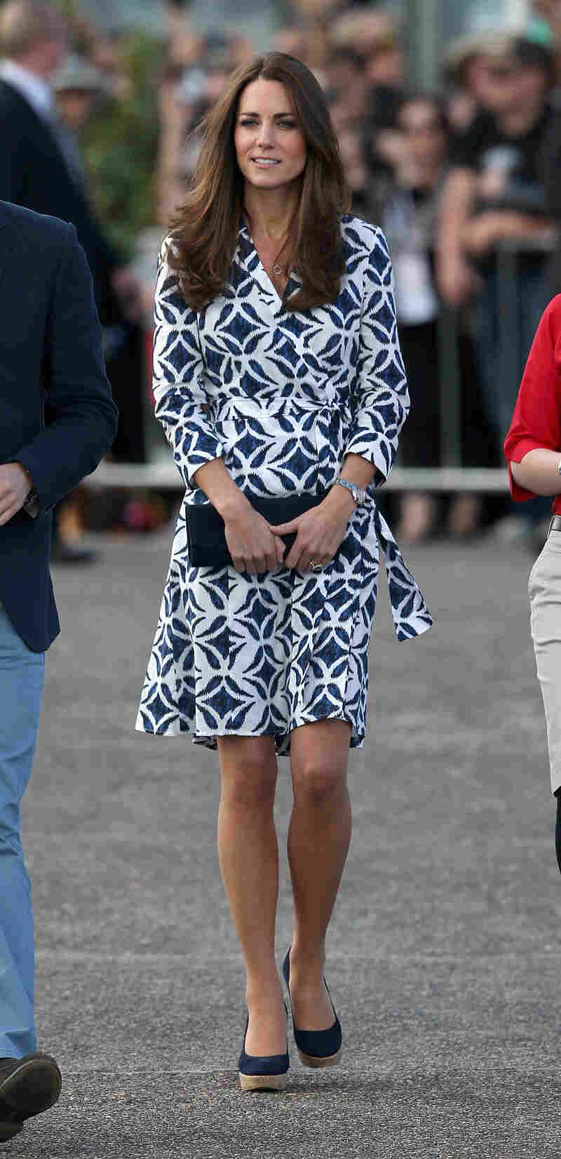 Catherine, Duchess of Cambridge, wore a Diane von Furstenberg wrap dress during her visit to Australia in April. Von Furstenberg, who created the wrap dress some 40 years ago, says she realizes how rare it is for a dress to hold its place in fashion for so long.