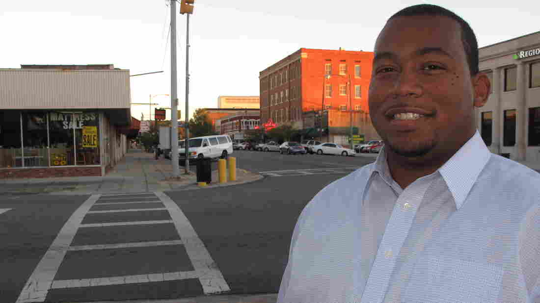"""Darius Foster says he wants to challenge racial and political expectations. """"With me, unfortunately, everything is black Republican. Not Darius did this, but the black Republican did that."""""""