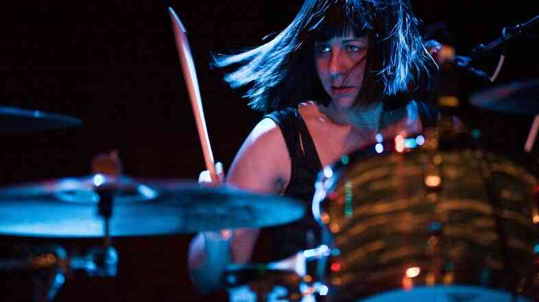 Sleater-Kinney (and Quasi and Wild Flag) drummer Janet Weiss at the kit.