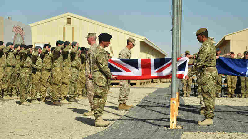 U.K. armed forces and U.S. Marines have ended combat operations in Afghanistan. In a formal handover, British troops stood with peers from the U.S. Marine Corps and the Afghan National Security Forces as the Union Flag and Stars and Stripes were lowered for the last time at the Bastion-Leatherneck complex Sunday.
