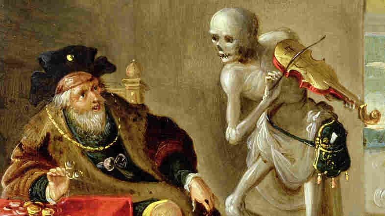 """Composer Camille Saint-Saëns' piece Danse Macabre draws on the late-medieval allegory of """"the Dance of Death"""" — pictured here in a painting of the same name by Frans Francken II."""