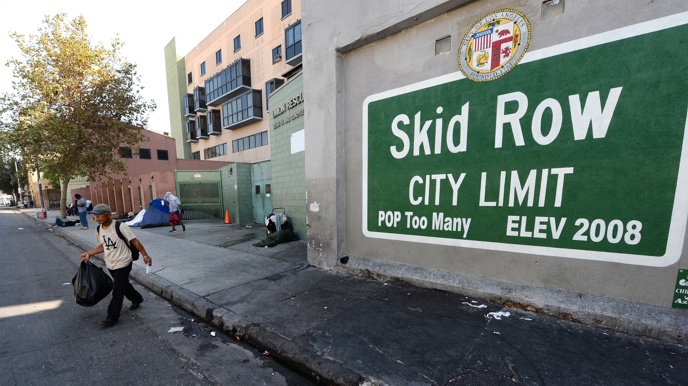As Downtown LA Grows, So Does Urgency To Fix Skid Row : NPR
