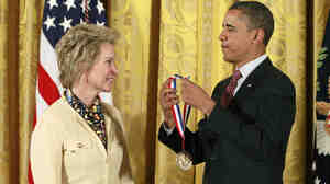 Caltech biochemical engineer Frances Arnold was awarded a National Medal of Technology and Innovation by President Obama in 2013.