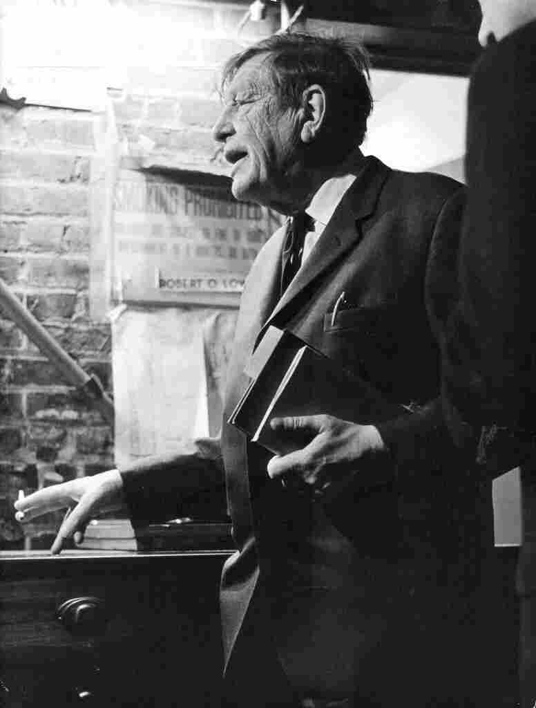 W.H. Auden at the 92nd Street Y Poetry Center in 1966.