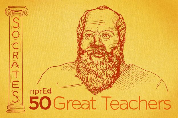 50 Great Teachers: Socrates, The Ancient World's Teaching Superstar  : NPR Ed : NPR