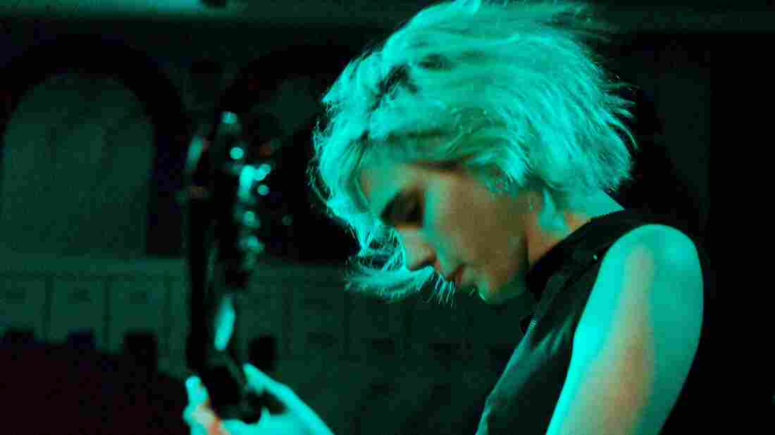 Sunflower Bean performing in New York during the CMJ Music Marathon.