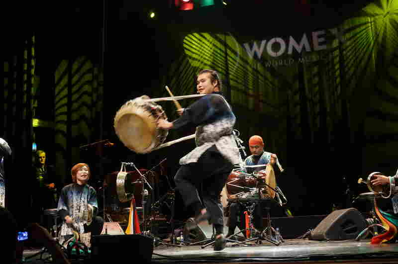 South Korean group Noreum Machi brought a wild, shamanistic energy to their Oct. 24th WOMEX showcase.