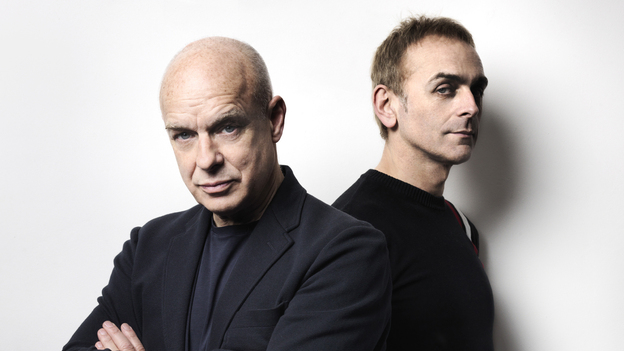 Brian Eno and Karl Hyde's new album, Someday World, comes out May 6. (Courtesy of the artist)