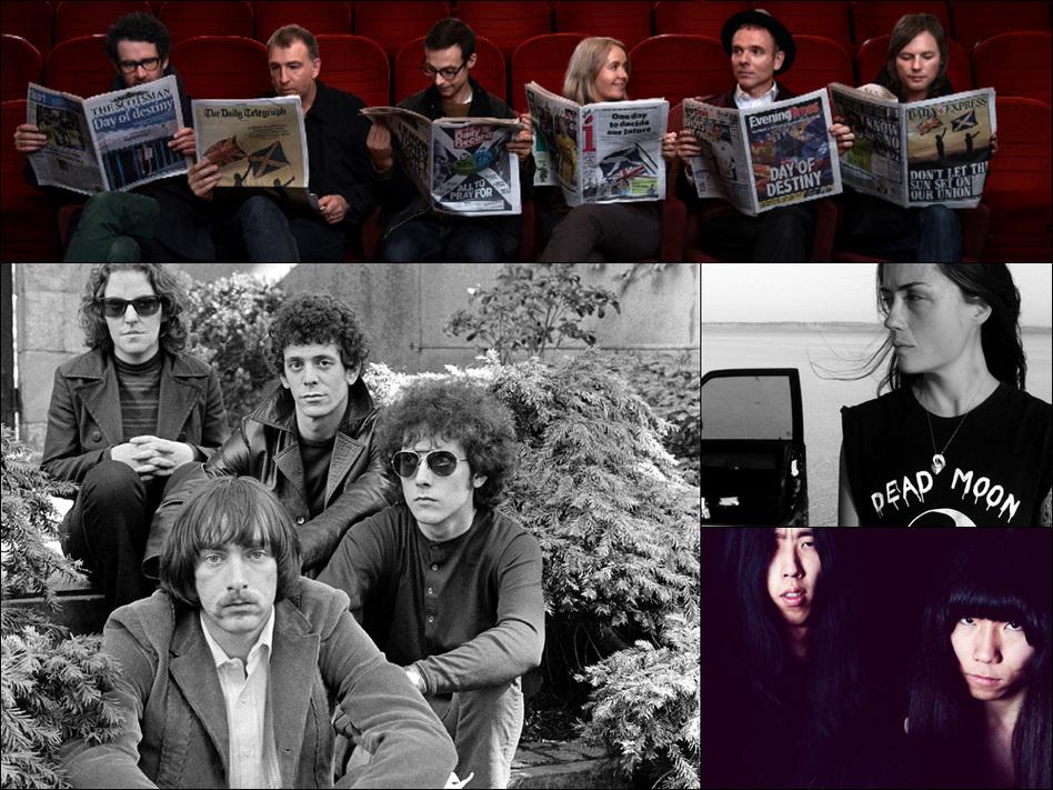 Clockwise from top: Belle And Sebastian, Grouper, Bo Ningen, The Velvet Underground
