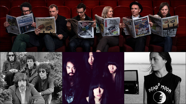 Clockwise from top: Belle And Sebastian, Grouper, Bo Ningen, The Velvet Underground (Courtesy of the artists)