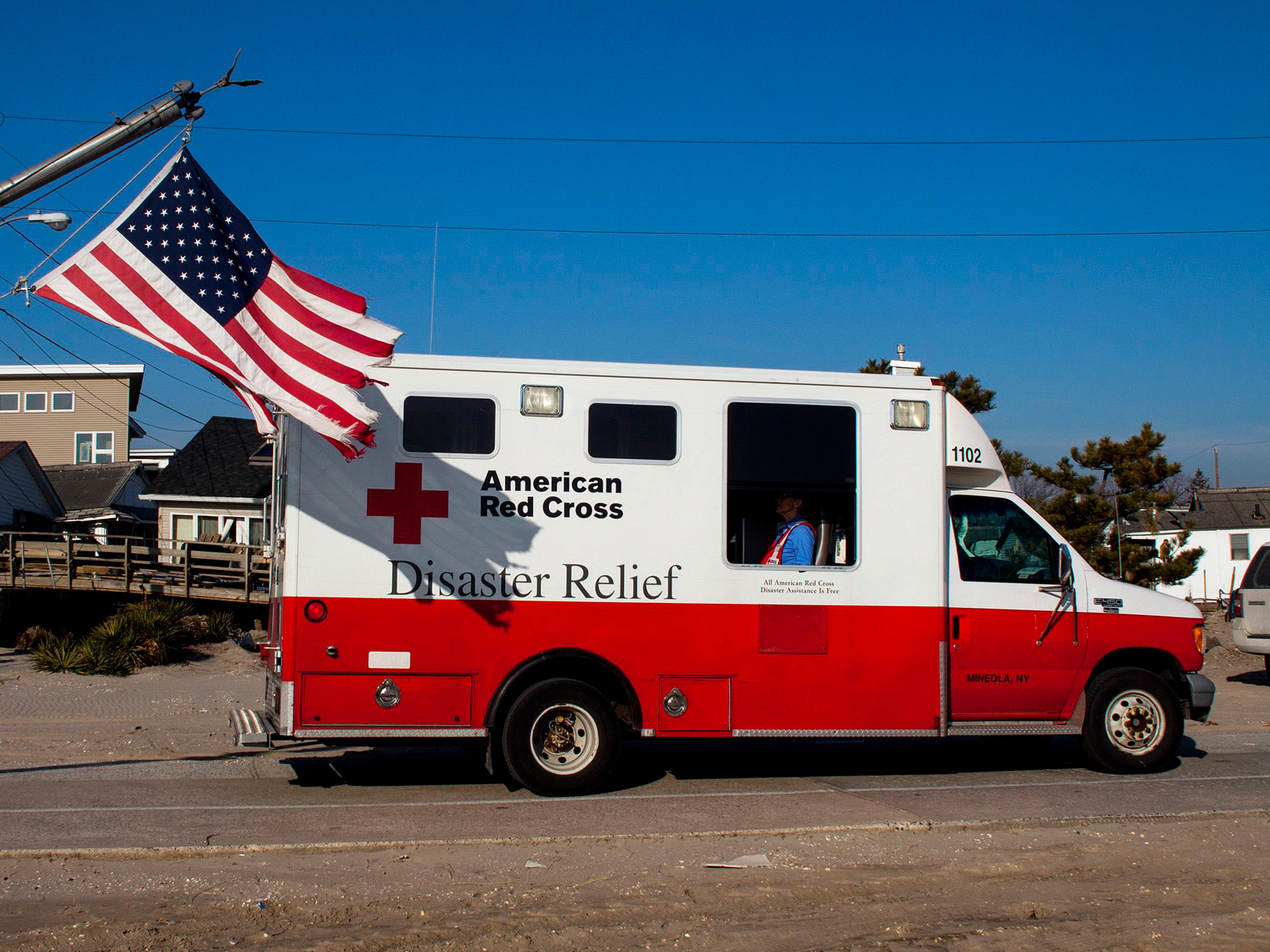 """In the aftermath of Superstorm Sandy, a former Red Cross official says, as many as 40 percent of the organization's emergency vehicles were assigned for public relations purposes. This photo, which shows one of the trucks in Long Island, N.Y., in January 2013, is one example of the many publicity photos taken by the Red Cross.Richard Rieckenberg is a former head of mass care for the American Red Cross and a retired Navy chief engineer for nuclear submarines. """"I think that they lost confidence in their ability to do the right thing,"""" he says, """"and they did the next best thing: 'What can we do to make people think we're doing the right thing?' """"Police Lt. Matthew Teidemann of the Bergen County Office of Emergency Management, says he can't count on the Red Cross after it failed to help after Sandy. So he's filling pods with enough blankets, water and supplies for 400 people in case of an emergency evacuation or natural disaster.In the aftermath of Superstorm Sandy, a former Red Cross official says, as many as 40 percent of the organization's emergency vehicles were assigned for public relations purposes. This photo, which shows one of the trucks in Long Island, N.Y., in January 2013, is one example of the many publicity photos taken by the Red Cross.Richard Rieckenberg is a former head of mass care for the American Red Cross and a retired Navy chief engineer for nuclear submarines. """"I think that they lost confidence in their ability to do the right thing,"""" he says, """"and they did the next best thing: 'What can we do to make people think we're doing the right thing?' """"Police Lt. Matthew Teidemann of the Bergen County Office of Emergency Management, says he can't count on the Red Cross after it failed to help after Sandy. So he's filling pods with enough blankets, water and supplies for 400 people in case of an emergency evacuation or natural disaster.In the aftermath of Superstorm Sandy, a former Red Cross official says, as many as 40 percent of the organization's emerge"""