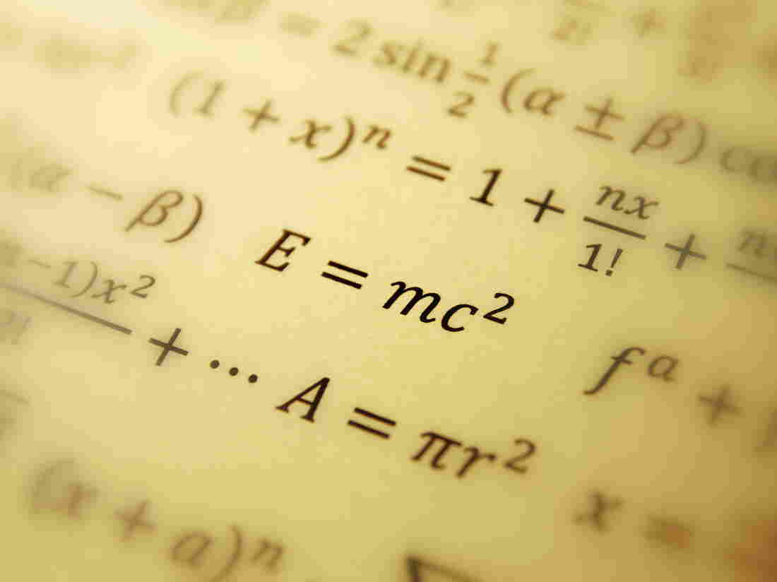 Albert Einstein's formula of relativity.