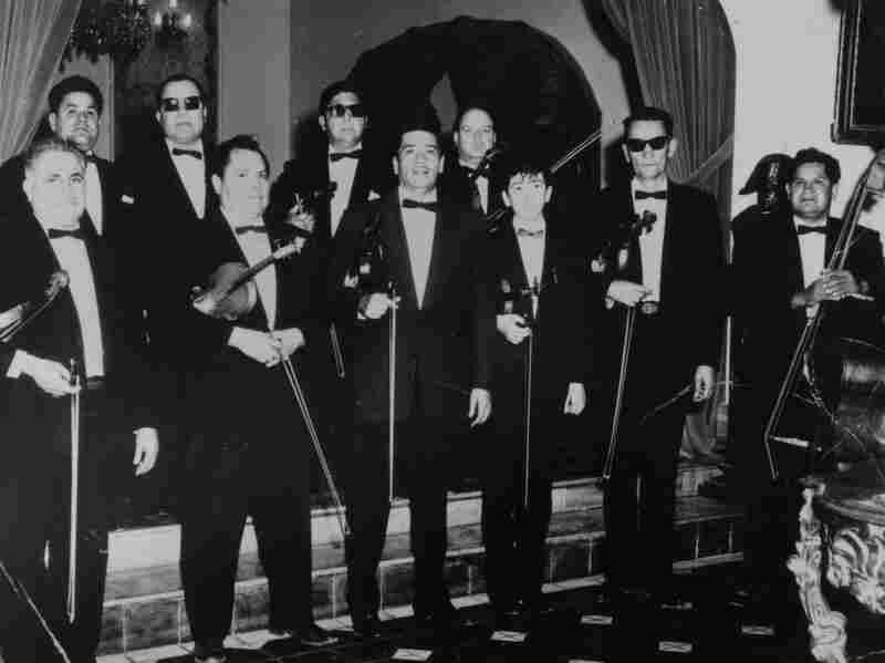 Carlos Santana at one of his first gigs with his father, a 50th anniversary party in Tijuana in 1958.